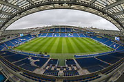 General view of the pitch ahead of the FA Cup fourth round match between Brighton and Hove Albion and West Bromwich Albion at the American Express Community Stadium, Brighton and Hove, England on 26 January 2019.