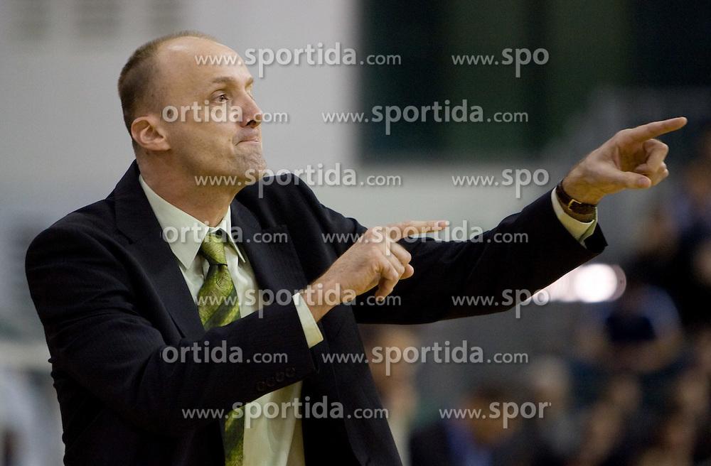 Head coach of Olimpija Jure Zdovc at Euroleague basketball match of Group C between KK Union Olimpija, Ljubljana and Maroussi B.C., Athens, on October 29, 2009, in Arena Tivoli, Ljubljana, Slovenia. Olimpija lost 75:81.  (Photo by Vid Ponikvar / Sportida)