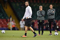 Gonzalo Higuain of Juventus during the training session ahead the UEFA Champions League Final between Real Madrid and Juventus at the National Stadium of Wales, Cardiff, Wales on 2 June 2017. Photo by Giuseppe Maffia.<br /> Giuseppe Maffia/UK Sports Pics Ltd/Alterphotos