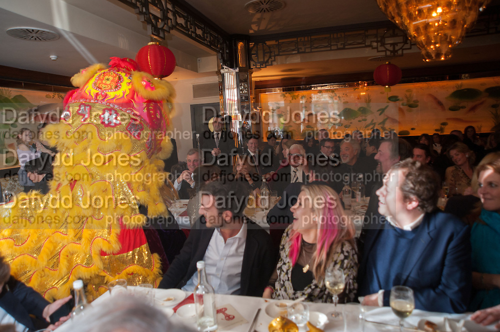 EDOUARD SCHULER; SARA PARKER BOWLES; TOM PARKER BOWLES; DUCHESS OF YORK, Chinese New Year dinner given by Sir David Tang. China Tang. Park Lane. London. 4 February 2013.