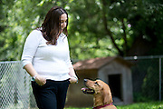 Aaron Leigh Johnson-Horton, founder of The Mesh Warrior, ACTION at her home in Dallas, Texas on July 8, 2014. (Cooper Neill for The Texas Tribune)
