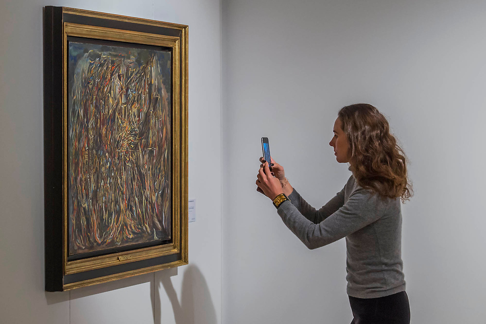 Maria Helena Vieira da Silva, L'Incendie I (The Fire I), Est. GBP 1,100,000 - GBP 1,500,000 - Christie's unveil an exhibition of in advance of their Post War and Contemporary sale on 06 March.