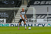 Matthew Clarke of Derby County in action during the EFL Sky Bet Championship match between Derby County and Brentford at the Pride Park, Derby, England on 11 July 2020.