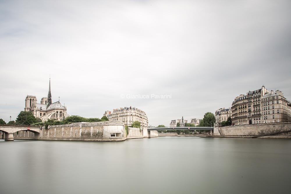 Paris landscapes, long exposure Ile de Notre Dame, Paris