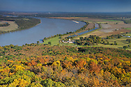 view over Arkansas River, Overlook at Petit Jean State Park, Arkansas, USA
