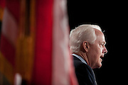 Dec 15, 2010 - Washington, District of Columbia, U.S. -  Senator JOHN CORNYN (R-TX) speaks to the media during a news conference with Senator John Thune (R-SD) on their opposition to the omnibus spending bill. (Credit Image: © Pete Marovich/ZUMA Press)