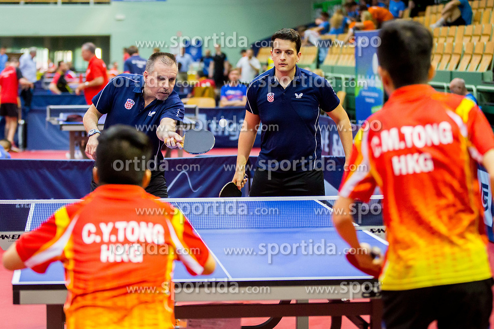 (Team CRO) JOZIC Pavao and REGOROVIC Vjekoslav in action during 15th Slovenia Open - Thermana Lasko 2018 Table Tennis for the Disabled, on May 10, 2018 in Dvorana Tri Lilije, Lasko, Slovenia. Photo by Ziga Zupan / Sportida