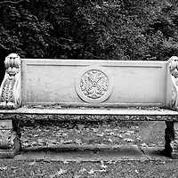 Formal bench at Canada's Governor General's residence in Ottawa.