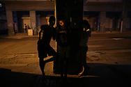 Children connect to the internet at a hotspot in Havana, Cuba, July 6, 2016. REUTERS/Alexandre Meneghini