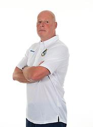 Bristol Rovers Club Chaplain, Dave Jeal - Photo mandatory by-line: Joe Meredith/JMP - Tel: Mobile: 07966 386802 12/08/2013 - SPORT - FOOTBALL - Bristol - Memorial Stadium -  Bristol Rovers - Team Photo - Npower League Two