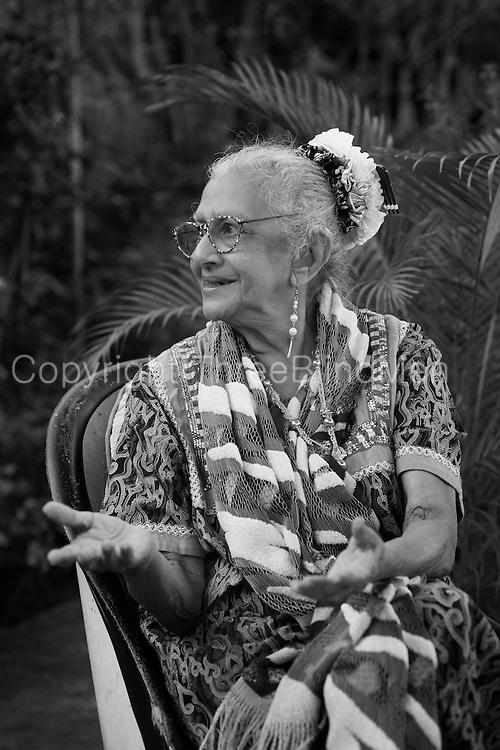 Ena de Silva at her home in Aluwihara.