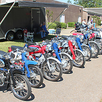 (Floyd Ingram / Buy at photos.chickasawjournal.com)<br /> A long line of Honda motorcycles were a big hit at Cruzin' Houston's Flywheel Festival Car Show in the parking lot of Houston High School Satruday.