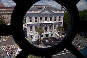 Charleston, SC - May 22:  A view from historic St. Michael's Church built in 1762 in Charleston, SC of the opening ceremonies for the Spoleto and Piccolo Spoleto Festival May 22, 2009 in Charleston, SC. The festival features more than 700 art events over 17-days filling Charleston's historic theaters, churches and outdoor spaces.    (Photo by Richard Ellis/Getty Images)