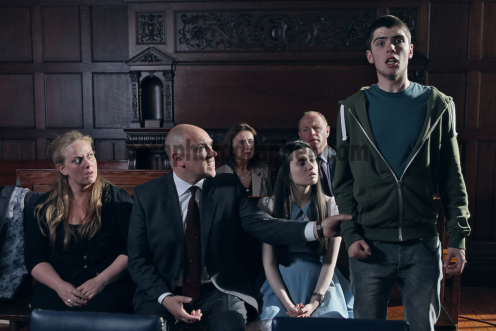 Fair City Eps 122<br /> TX:  Wednesday 31st July 2013<br /> Callum interupts judge, announces I did it<br /> L-R<br /> Niamh - Clelia Murpy<br /> Paul - Tony Tormey<br /> Rachel - Niamh Quirke<br /> Callum - Sean Doyle