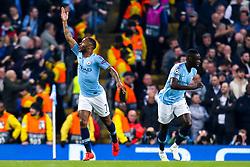 Raheem Sterling of Manchester City celebrates scoring a goal to make it 3-2 - Mandatory by-line: Robbie Stephenson/JMP - 17/04/2019 - FOOTBALL - Etihad Stadium - Manchester, England - Manchester City v Tottenham Hotspur - UEFA Champions League Quarter Final 2nd Leg