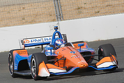 September 14, 2018 - Sonoma, CA, U.S. - SONOMA, CA - SEPTEMBER 14: Scott Dixon drives thru ''the Bus Stop'' during the Verizon IndyCar Series practice for the Grand Prix of Sonoma on September 14, 2018, at Sonoma Raceway in Sonoma, CA. (Photo by Larry Placido/Icon Sportswire) (Credit Image: © Larry Placido/Icon SMI via ZUMA Press)