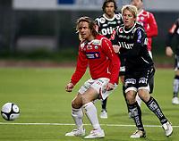 Fotball <br /> Adeccoligaen<br /> Gjemselunden Stadion <br /> 04.10.09<br /> Kongsvinger  v Bryne   1-0<br /> Foto: Dagfinn Limoseth, Digitalsport<br /> <br /> Carl-Erik Torp , Kongsvinger og Leif Otto Paulsen  , Bryne