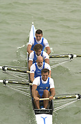 Seville, Andalusia, SPAIN<br /> <br /> 2002 World Rowing Championships - Seville - Spain Sunday 15/09/2002.<br /> <br /> Rio Guadalquiver Rowing course<br /> <br /> ITA M4- Bow. Niccolo MORNATI, Raffaello<br /> LEONARDO,  Lorenzo CARBONCINI, and Carlo MORNATI<br /> <br /> <br /> [Mandatory Credit:Peter SPURRIER/Intersport Images]