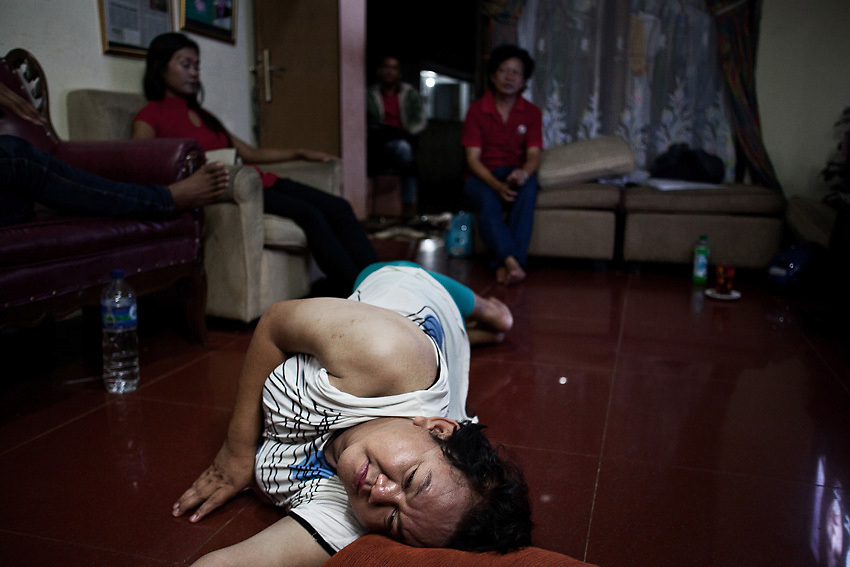 JAKARTA, INDONESIA, MARCH 2013: Inside Mami Yuli's house for transgender elderly, Depok Baru, outskirts of Jakarta.