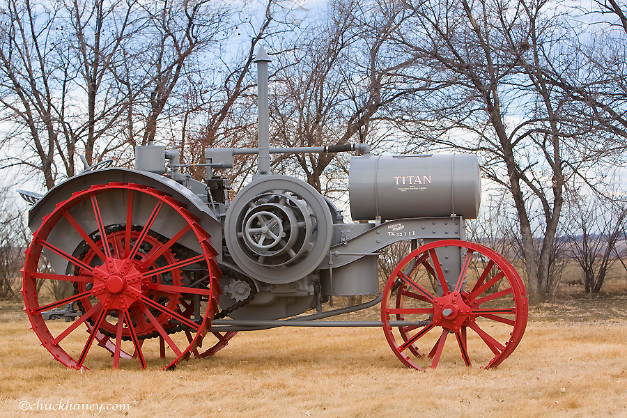 1918 Titan Model 10-20 Tractor manufactured by International Harvester restored by Dick Tombrink of Worden Montana