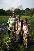 Community health worker Nancy Tucker, 42 (centre) stands amongst her fields of okra with her mother Finda Bundor and daughter Mariama, 12 years old in the village of Bambaya, Kono district, Sierra Leone on March 28, 2017. Nancy became a CHW in 2008 and has been providing maternal and child health related services to her community. &ldquo;As a CHW, I counsel pregnant women in my village about the importance of accessing ante-natal care services at the health facility and also giving birth there. I advise them to take all their vaccines. I also convince them to exclusively breastfeed their babies for at least six months after they give birth and educate them on good hygiene practices,&rdquo; she said.<br />  <br /> &ldquo;One thing I am proud of is helping to save the life of a bleeding pregnant woman and her baby. I acted fast and ensured we took her to the health center where she received help. Even though there was no car or motor bike I insisted that we go with her immediate and we carried her on a hammock. That woman and her baby might have died if I didn&rsquo;t intervene.&rdquo; Nancy Tucker