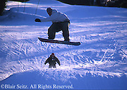 Snowboarding, Poconos ski resort, NE PA