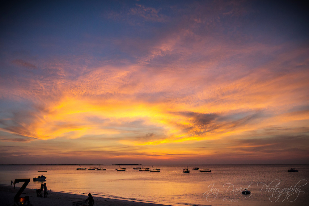 A spectacular sunset shot in the North West of Zanzibar.