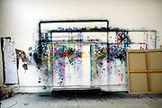 Chinese artist Li Shurui's studio in Beijing.