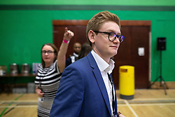 © Licensed to London News Pictures . 13/12/2019. Bury, UK. RICHARD KILPATRICK Liberal Democrat candidate for Bury South arrives at the count for seats in the constituencies of Bury North and Bury South in the 2019 UK General Election , at Castle Leisure Centre in Bury . Photo credit: Joel Goodman/LNP