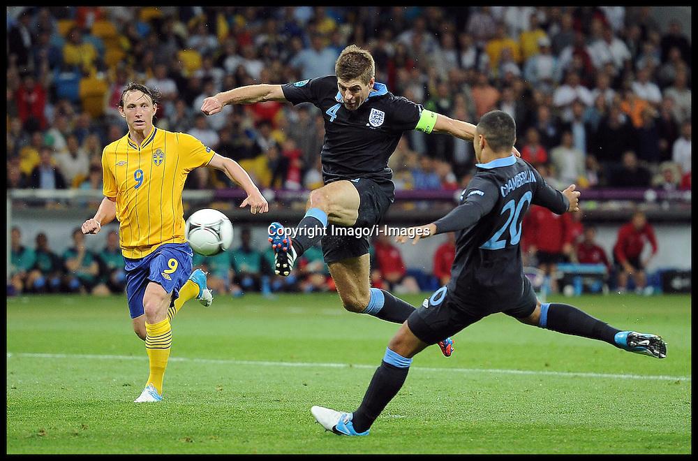 Steven Gerrard during England v Sweden in the Group D Sweden v England match, June 15, 2012, in Kiev during the UEFA Euro 2012. Photo by Imago/i-Images