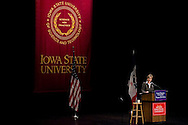 U.S. Democratic Presidential candidate Senator Hillary Clinton (D-NY) gives  a speech during a campaign stop in Ames, Iowa October 24 2007.