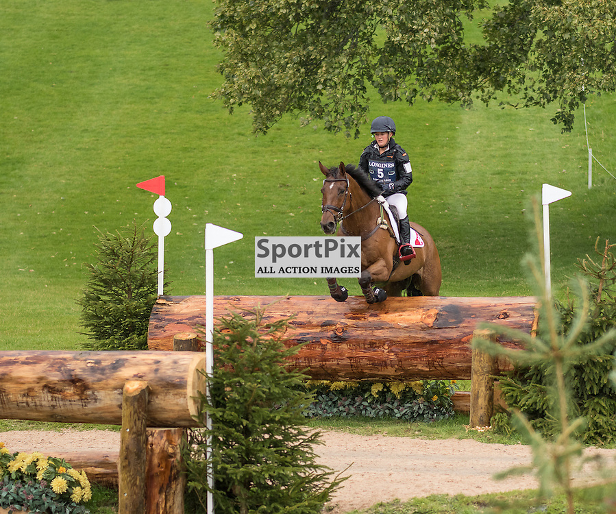 Jasmin GAMBIRASIO (SUI) on Thats It. Longines FEI European Eventing Championship 2015, Blair Castle, 12th September 2015