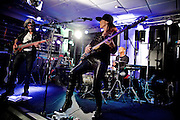 Frankfurt am Main | 03 June 2016<br /> <br /> Bass player Ida Nielsen from Denmark is famous for her collaboration with US soul and funk legend Prince.<br /> The picture shows her performing and presenting her brand new Sandberg signature model at Session music store in the german city of Frankfurt. The other bass on this night was played by Sandberg official Holger Stonjek, drums were payed by Patrick Dorcean.<br /> <br /> &copy;peter-juelich.com<br /> <br /> [No Model Release | No Property Release]