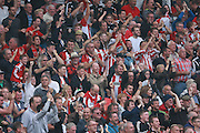 Brentford fans during the EFL Sky Bet Championship match between Brighton and Hove Albion and Brentford at the American Express Community Stadium, Brighton and Hove, England on 10 September 2016. Photo by Bennett Dean.