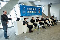 Gasper Bolhar during press conference of Slovenian Men Tennis Team for Davis Cup Romania vs Slovenia competition, on February 24, 2016 in Kristalna palaca, Ljubljana, Slovenia. Photo by Vid Ponikvar / Sportida