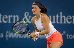 August 11, 2018 - Nicole Gibbs of the United States in action during qualifications at the 2018 Western & Southern Open WTA Premier 5 tennis tournament. Cincinnati, USA, August 11, 2018 (Credit Image: © AFP7 via ZUMA Wire)