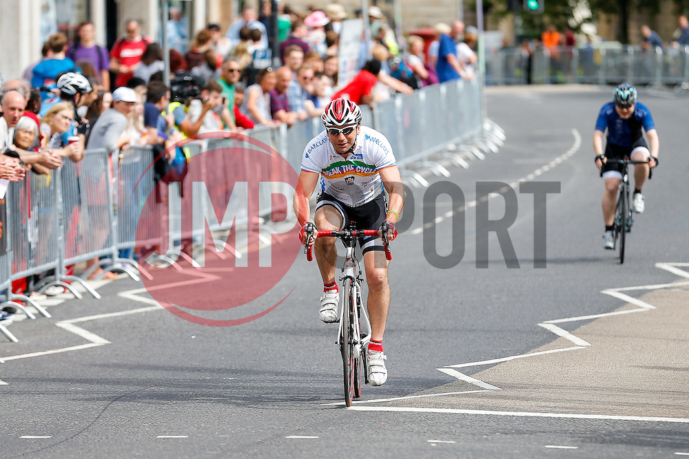 Team Bristol Sport in action on the way to victory in the  Corporate Relay during the first ever Bristol Grand Prix, a closed circuit city centre bicycle road race - Mandatory byline: Rogan Thomson/JMP - 07966 386802 - 20/06/2015 - SPORT - Cycling - Bristol, England.