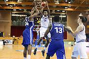 LIGNANO SABBIADORO, 11 LUGLIO 2015<br /> BASKET, EUROPEO MASCHILE UNDER 20<br /> ITALIA-FRANCIA<br /> NELLA FOTO: Nicola Akele<br /> FOTO FIBA EUROPE/CASTORIA
