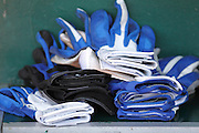 ANAHEIM, CA - JULY 21:  Batting gloves are piled up prior to the Los Angeles Angels of Anaheim game against the Texas Rangers on July 21, 2011 at Angel Stadium in Anaheim, California. The Angels won the game in a 1-0 shutout. (Photo by Paul Spinelli/MLB Photos via Getty Images)