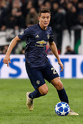 November 7, 2018 - Turin, Italy - Ander Herrera of Manchester United in action during the Group H match of the UEFA Champions League between Juventus FC and Manchester United FC on November 7, 2018 at Juventus Stadium in Turin, Italy. (Credit Image: © Mike Kireev/NurPhoto via ZUMA Press)