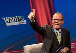 05.10.2015, Sofiensäle, Wien, AUT, ORF-Puls4 TV-Konfrontation, Elefantenrunde zur Wien-Wahl 2015, im Bild Paul Tesarek (ORF) // before Television confrontation beetwen Topcandidates for viennese state elcetion at Sofiensäle in Vienna, Austria on 2015/10/05, EXPA Pictures © 2015, PhotoCredit: EXPA/ Michael Gruber