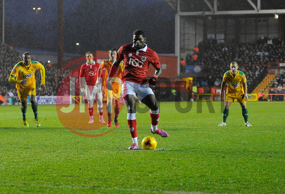 Bristol City's Jay Emmanuel-Thomas scores a penalty  - Photo mandatory by-line: Joe Meredith/JMP - Mobile: 07966 386802 - 26/12/2014 - SPORT - football - Bristol - Ashton Gate - Bristol City v Yeovil Town - Sky Bet League One
