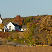 Colorful fall foliage in Mount Morris, Central Wisconsin.<br /> Photography by Jose More