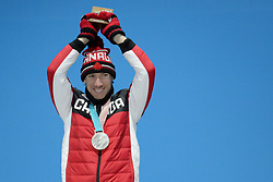 February 12, 2018 - Pyeongchang, South Korea - TED-JAN BLOEMEN of Canada with his silver medal from the men's 5,000m Speed Skating event in the PyeongChang Olympic games. (Credit Image: © Christopher Levy via ZUMA Wire)