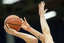 Ball during basketball match between KK Tajfun and KK Union Olimpija Ljubljana in 9th Round of ABA League 2015/16, on November 8, 2015 in Arena Golovec, Celje, Slovenia. Photo by Vid Ponikvar / Sportida
