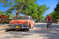 Old American car in Bocas, Holguin, Cuba.