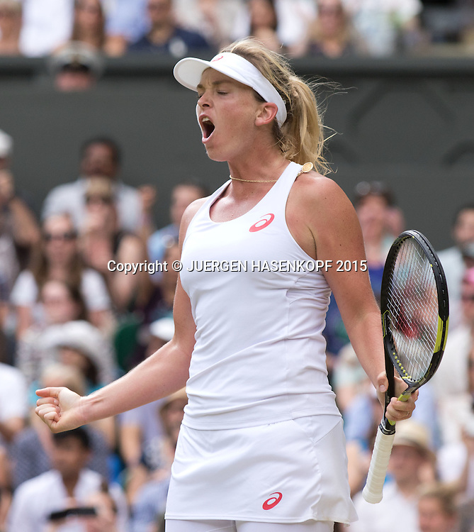 Coco Vandeweghe (USA)  jubelt,Jubel,Emotion,<br /> <br /> <br /> Tennis - Wimbledon 2015 - Grand Slam ITF / ATP / WTA -  AELTC - London -  - Great Britain  - 7 July 2015.