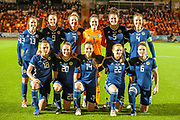 The Scotland team before the Women's International Friendly match between Scotland Women and USA at the Simple Digital Arena, Paisley, Scotland on 13 November 2018.