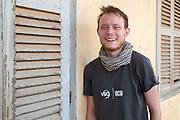 Graham Gilmor, one of the VSO ICS volunteers based in the village of Banteay Char, near Battambang, Cambodia.
