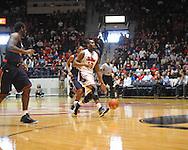 "Ole Miss' LaDarius White (10) vs. Auburn at the C.M. ""Tad"" Smith Coliseum on Saturday, February 23, 2013.  (AP Photo/Oxford Eagle, Bruce Newman)"